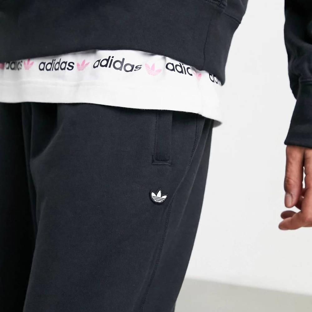 adidas Adicolor Premium Joggers Black Closeup