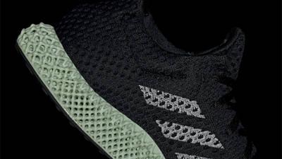 adidas Futurecraft 4D OG Core Black Green Closeup