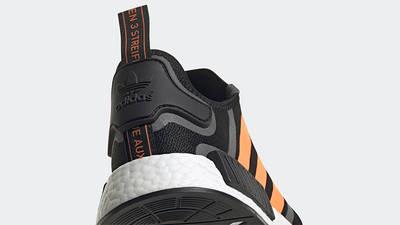 adidas NMD R1 Black Screaming Orange Back Detail