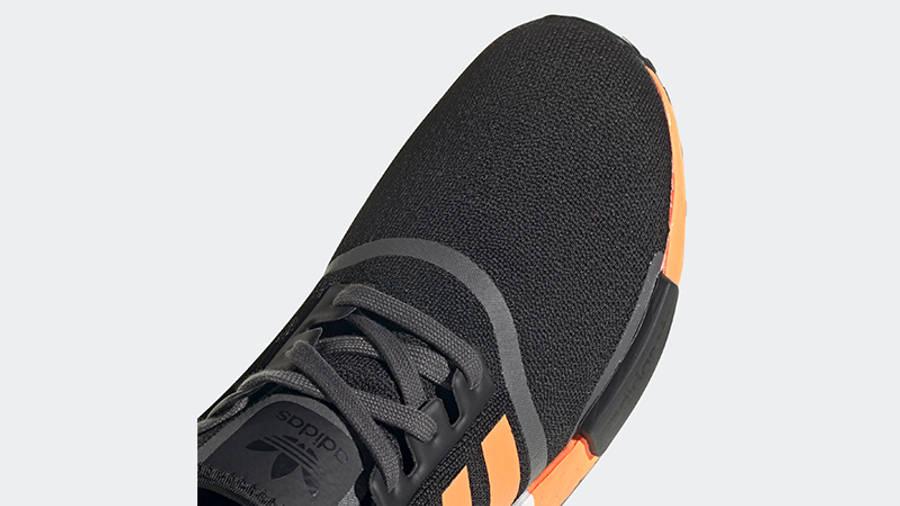adidas NMD R1 Black Screaming Orange Front Detail