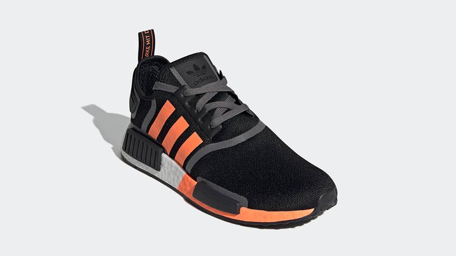 adidas NMD R1 Black Screaming Orange Side