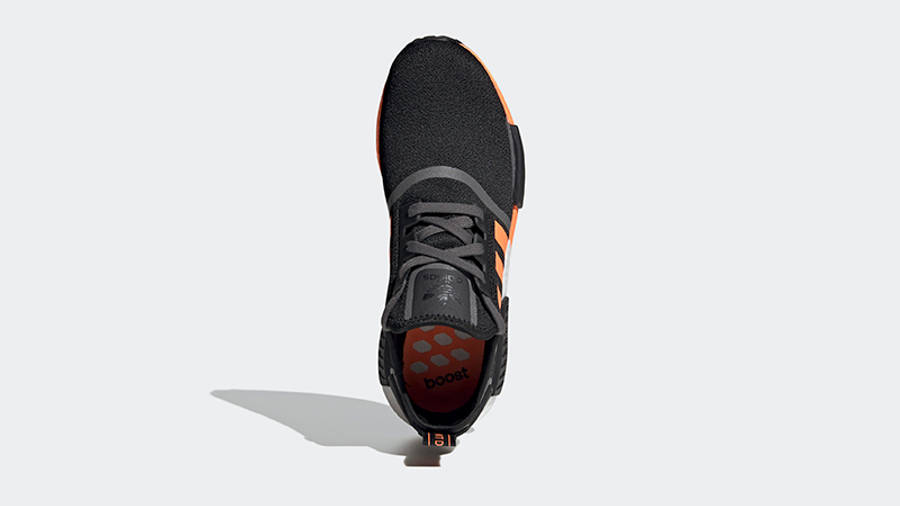 adidas NMD R1 Black Screaming Orange Top