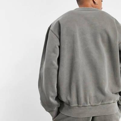 adidas Originals Premium Sweats Overdyed Rib Sweatshirt Olive Back