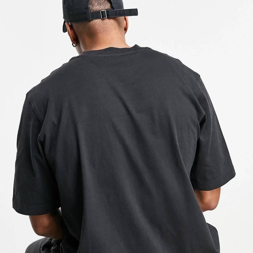 adidas Originals Premium Sweats Overdyed Rib T-shirt Black Back