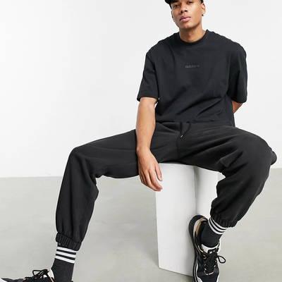 adidas Originals Premium Sweats Overdyed Rib T-shirt Black Full