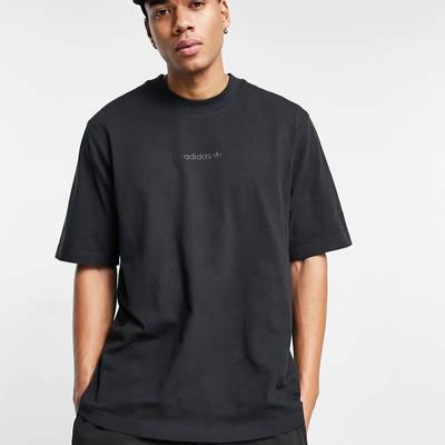 adidas Originals Premium Sweats Overdyed Rib T-shirt Black