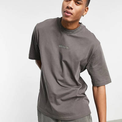 adidas Originals Premium Sweats Overdyed Rib T-shirt Olive Front