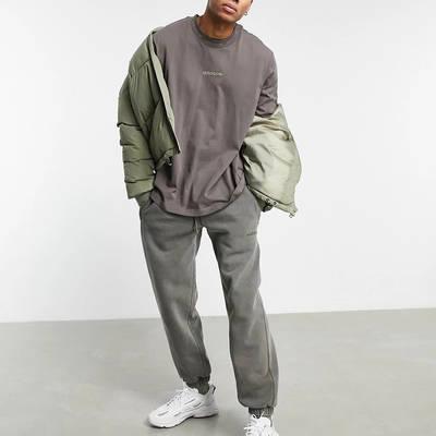 adidas Originals Premium Sweats Overdyed Rib T-shirt Olive Full