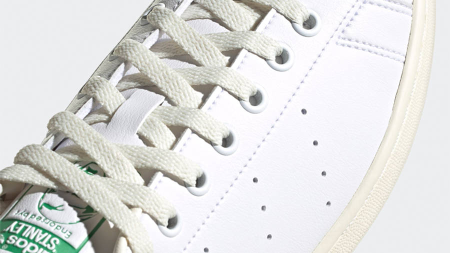 adidas Stan Smith Cream White Green Closeup