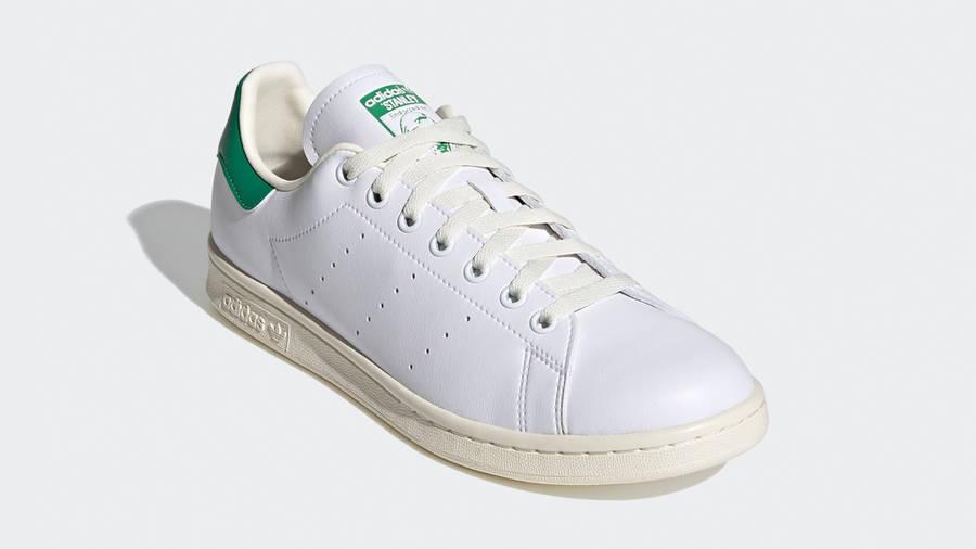 adidas Stan Smith Cream White Green Front