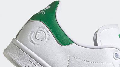 adidas Stan Smith Vegan Cloud White Green Closeup
