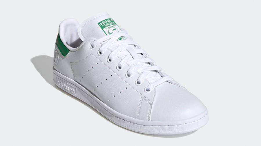 adidas Stan Smith Vegan Cloud White Green Front