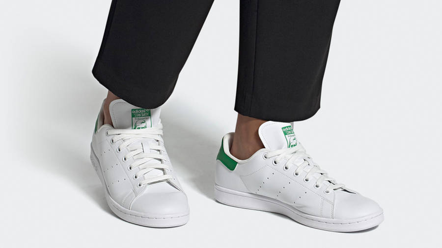 adidas Stan Smith Vegan Cloud White Green On Foot