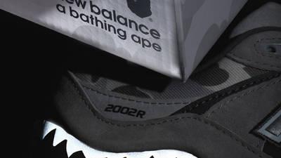 BAPE x New Balance 2002R Grey Camo First Look 1