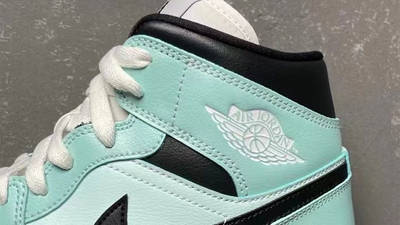 Jordan 1 Mid Mint Black First Look Closeup