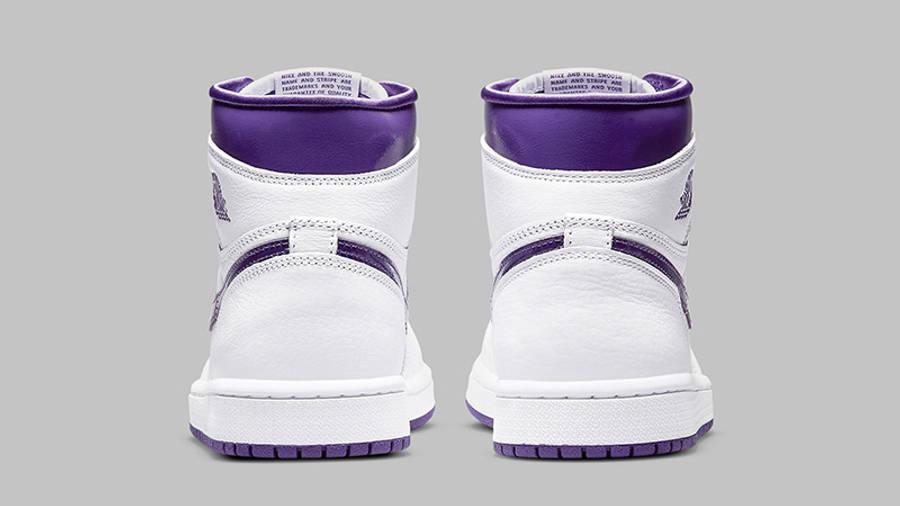 Jordan 1 Retro High OG Court Purple Back Detail