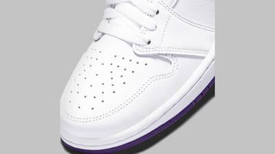 Jordan 1 Retro High OG Court Purple Front Detail