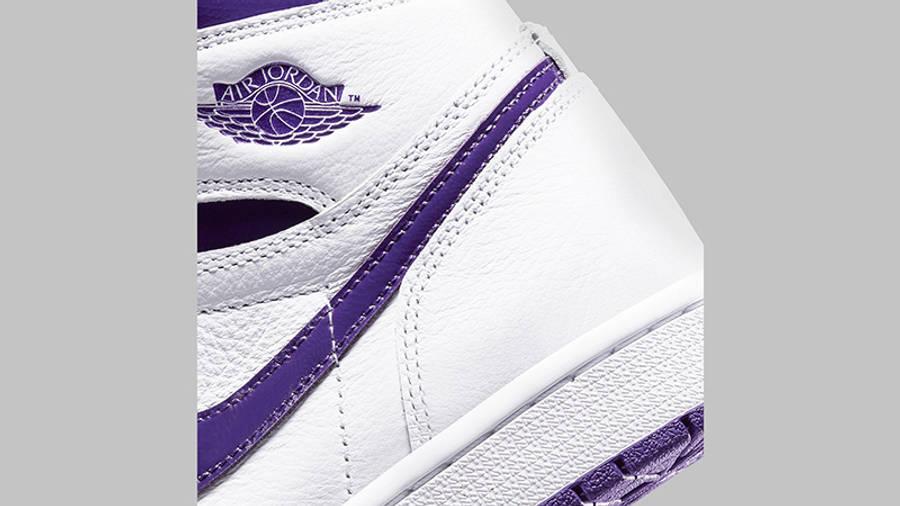 Jordan 1 Retro High OG Court Purple Side Detail