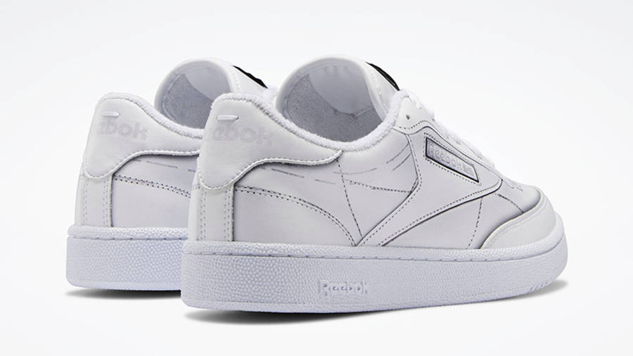 Maison Margiela x Reebok Club Tromp Leoil White Back