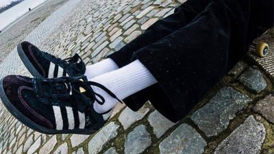 Maite Steenhoudt x adidas Samba ADV Core Black White On Foot