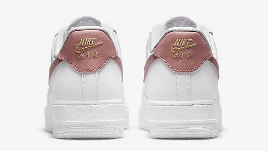 Nike Air Force 1 Low White Rust Pink Back