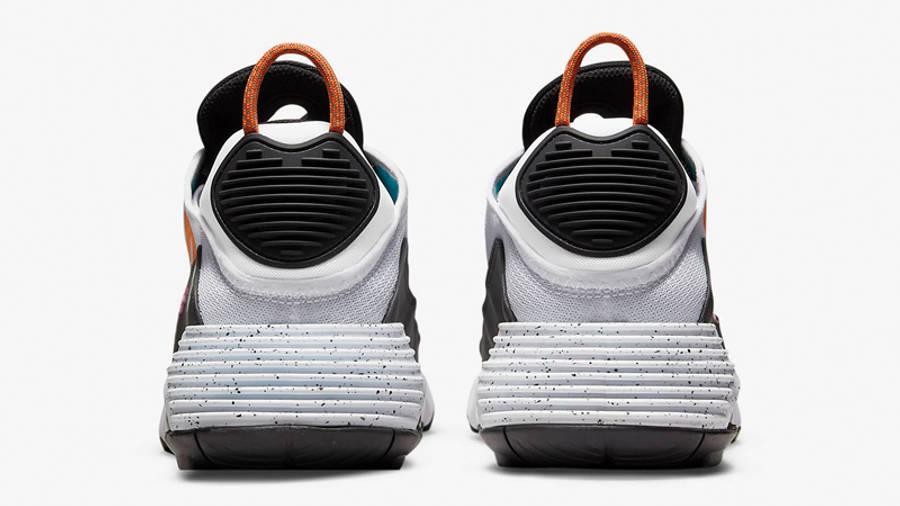 Nike Air Max 2090 White Black Aquamarine Back