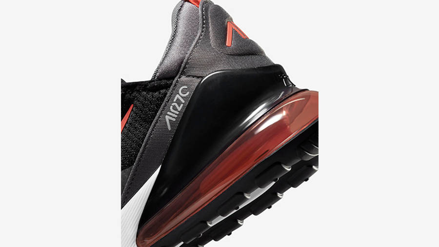 Nike Air Max 270 Black Grey Orange Back Detail