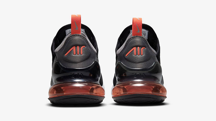 Nike Air Max 270 Black Grey Orange Back