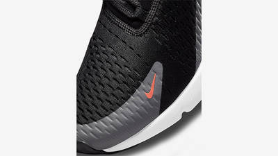 Nike Air Max 270 Black Grey Orange Front Detail