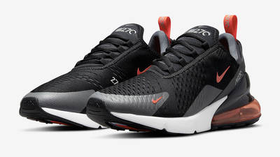 Nike Air Max 270 Black Grey Orange Side
