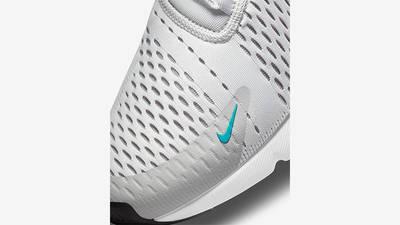 Nike Air Max 270 White Grey Blue Front Detail