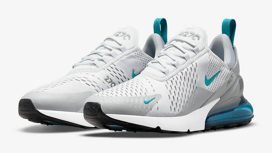 Nike Air Max 270 White Grey Blue Side