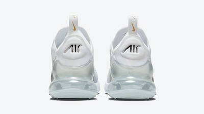 Nike Air Max 270 White Metallic Silver Gold DJ5136-001 back