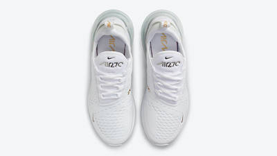 Nike Air Max 270 White Metallic Silver Gold DJ5136-001 middle
