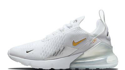 Nike Air Max 270 White Metallic Silver Gold DJ5136-001