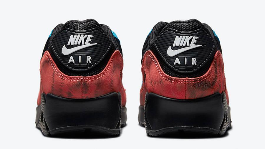 Nike Air Max 90 Black Tie-Dye DJ6888-001 back