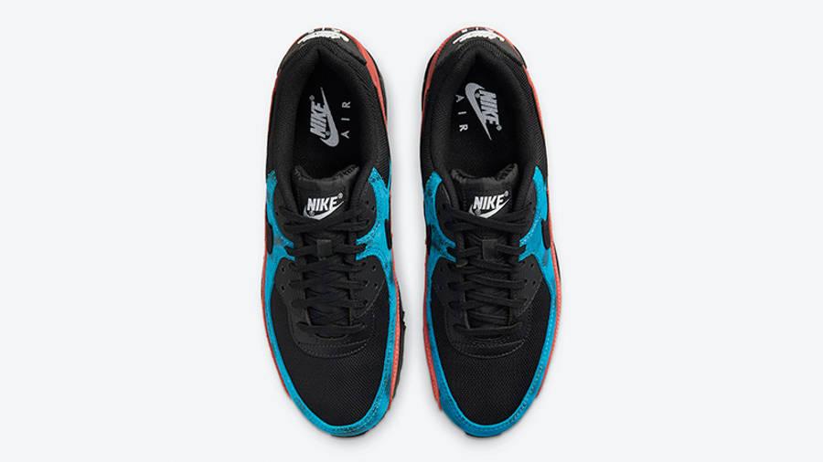 Nike Air Max 90 Black Tie-Dye DJ6888-001 middle