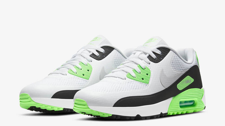 Nike Air Max 90 Golf White Flash Lime Front