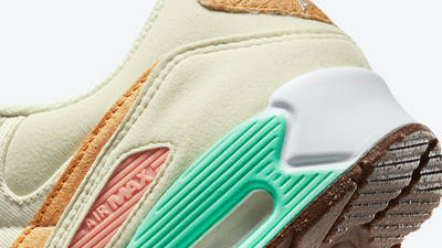 Nike Air Max 90 Happy Pineapple Back Closeup