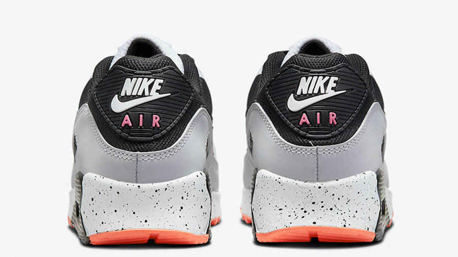 Nike Air Max 90 White Turf Orange Aquamarine DC9845-100 back