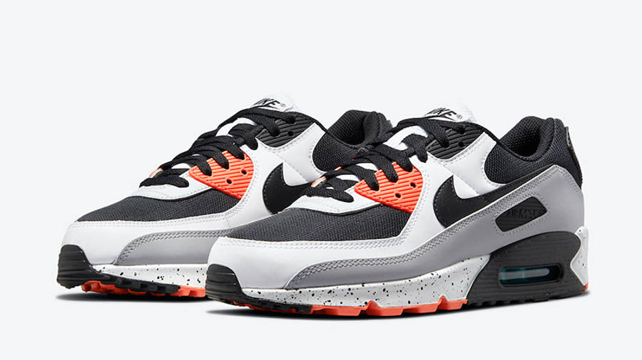 Nike Air Max 90 White Turf Orange Aquamarine DC9845-100 front
