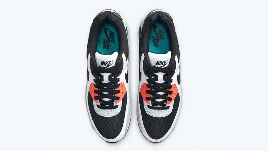 Nike Air Max 90 White Turf Orange Aquamarine DC9845-100 middle