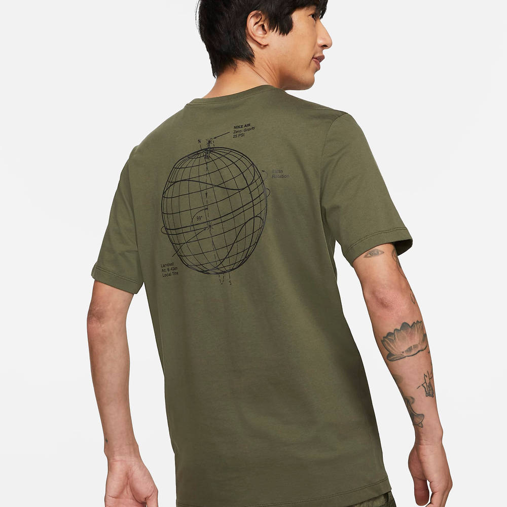 Nike Air T-Shirt Cargo Khaki Back