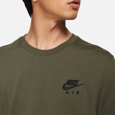 Nike Air T-Shirt Cargo Khaki Front Closeup