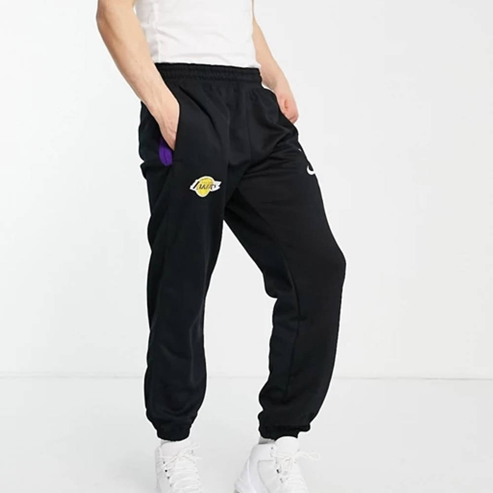 Nike Basketball LA Lakers NBA Joggers Side