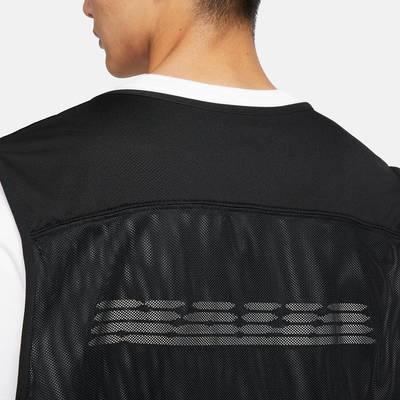Nike Nigeria Mens Football Gilet Black Back Closeup