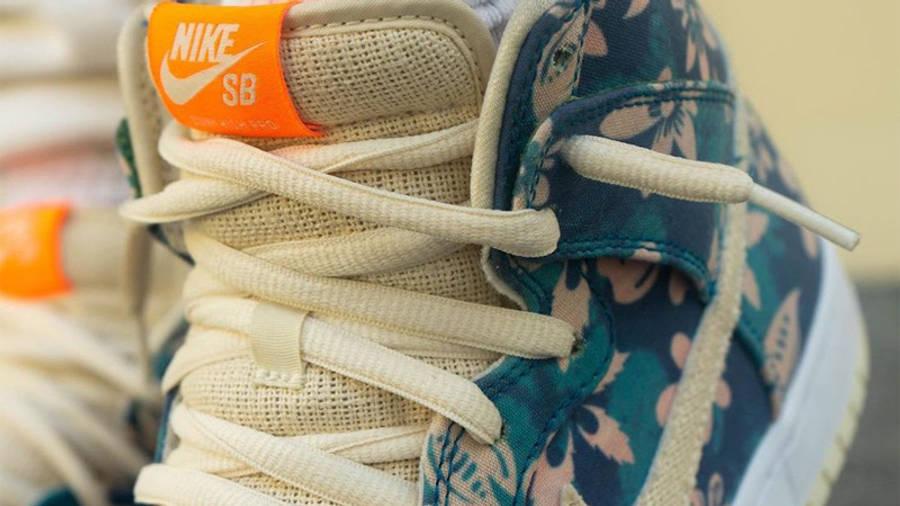 Nike SB Dunk High Hawaii On Foot Closeup