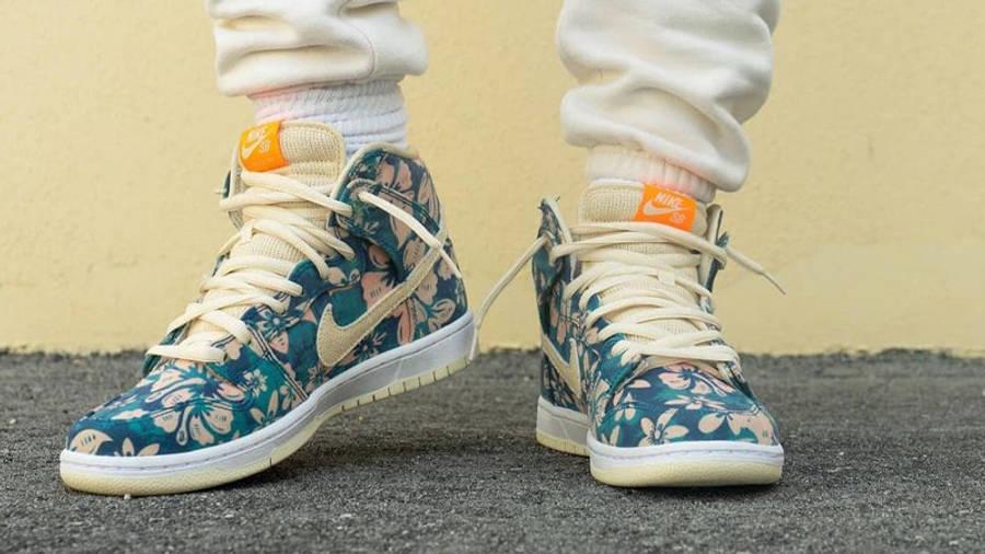 Nike SB Dunk High Hawaii On Foot Front