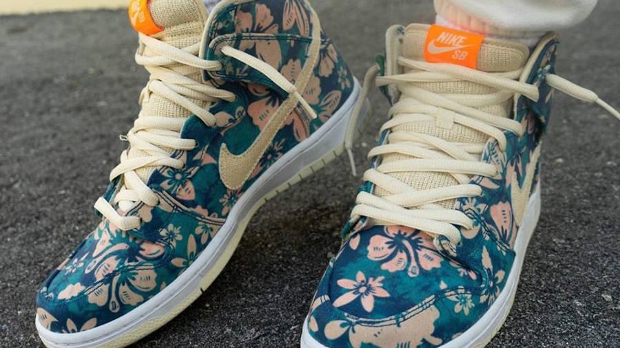 Nike SB Dunk High Hawaii On Foot Top