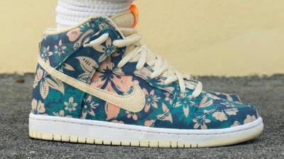 Nike SB Dunk High Hawaii On Foot